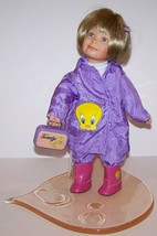 ASHTON DRAKE GALLERIES LOONEY TUNES TWEETY BIRD HOLLY IN RAINCOAT DOLL I... - $37.86