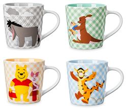Disney Store Winnie The Pooh Eeyore Tigger Ferkel Kanga Roo Kaffee Mug 2... - $49.95