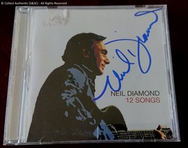 Neil Diamond Autographed 12 Songs Music CD - $110.00