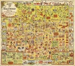 Hollywood California Harrison Godwin 1928 Antique Map POSTER 10004000 - $15.84