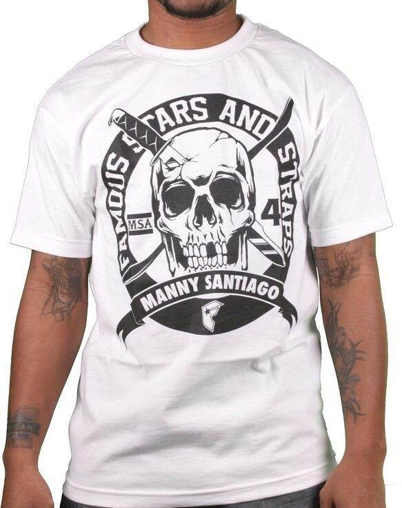 Famous Stars & Straps Blanc/Noir Homme Msa Kills Manny Santiago T-Shirt Skate