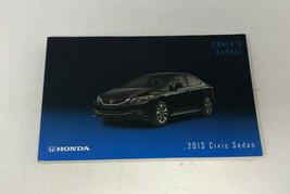 2013 Honda Civic Sedan Owners Manual Handbook OEM Z0A855 - $21.59