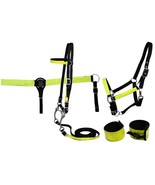 REFLECTIVE SAFTEY HALTER BRIDLE BIT BREASTPLATE LEG WRAP SET WESTERN OR ... - $49.90