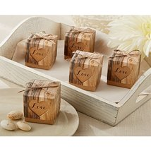 Hearts In Love Rustic Favor Box (Set of 48) - $41.71