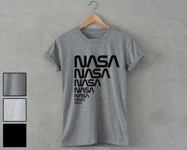 NASA T-Shirt retro space star geek nerd Unisex area 51 alien head ufo science - $14.99