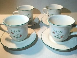 Pfaltzgraff WINTERBERRY Cups & Saucers, Set of 4  Christmas Cups - $22.76