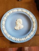 """Wedgwood Blue Jasperware 4 1/2"""" Shakespeare Vintage Plate - $14.52"""