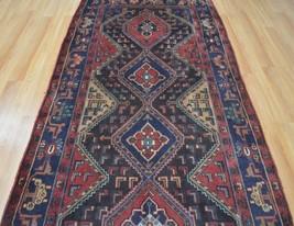 4'3x9'3 Strong Genuine Semi Antique Persian Tribal Bijar Garus Handmade ... - $593.01