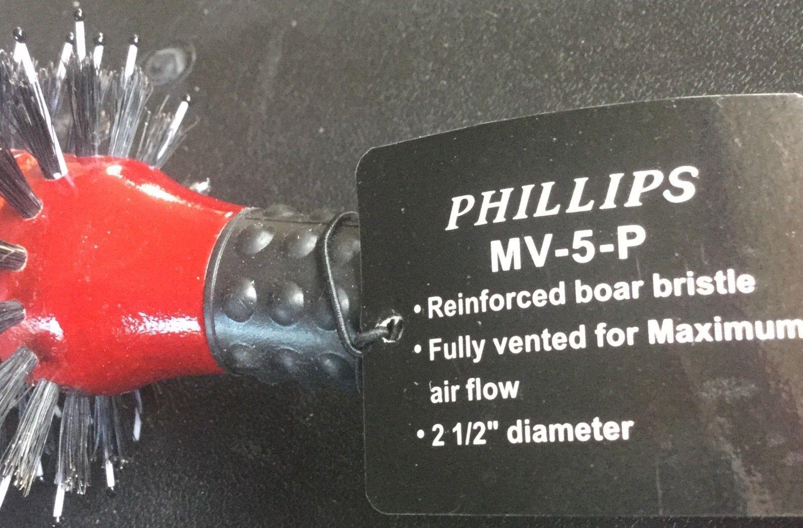 """Phillips Reinforced Bristle Monster Vent -5P new, 2.50"""" diameter, boar/nylon"""
