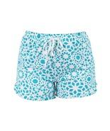 Hello Mello Leisure Time Tranquil Turquoise Lounge Shorts Medium/Large - $12.99