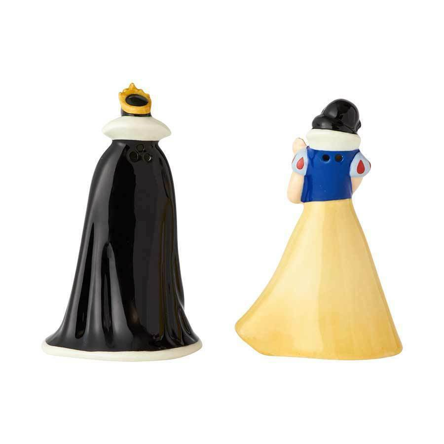 Walt Disney Snow White and the Evil Queen Ceramic Salt & Pepper Shakers Set NEW image 2