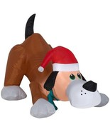 Airblown Inflatable Playful Puppy Dog wIth Santa Hat by Gemmy - $47.35