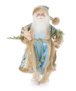 """Coastal Nautical Beach Sea Shells Blue Santa Claus Doll Figurine Statue 18"""" - $54.99"""