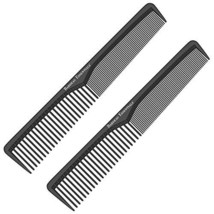 Styling Comb 2 Pack | Professional 7 Inch Black Carbon Fiber Anti Static Chemica