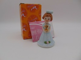 Enesco Growing Up Girls Brunette Figurine Age 2 E-9526 New in Box 1982 - $11.30