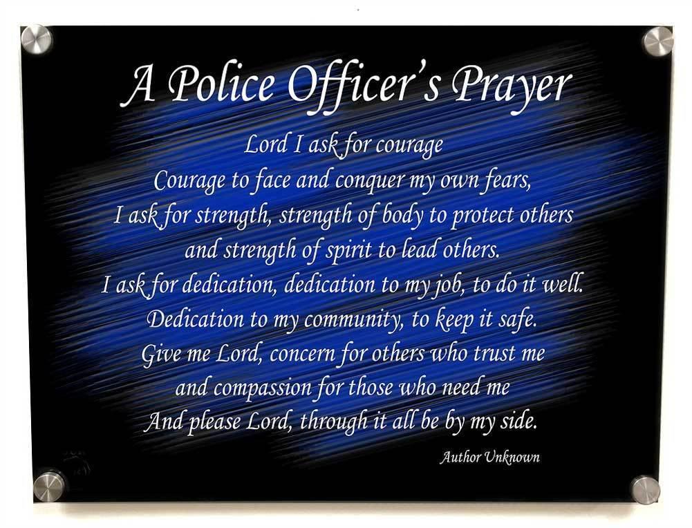 Thin Blue Line American Flag Policeman/'s Oath of Office Aluminum Wall Art