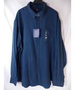 Croft & Barrow True Comfort Flannel Shirt Long Sleeve Navy Blue Mens XXL... - $25.73