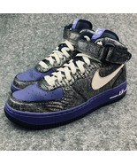 Nike Air Force 1 Mid 07 LE Sneakers Womens Size 6.5 Purple Athletic Shoes - $49.49