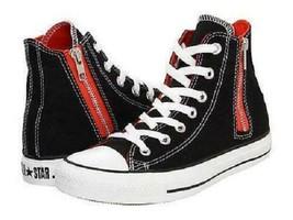 Women's CONVERSE ALL STAR SIDE ZIP HI TOP Black Sneakers 532430F NEW - $26.25