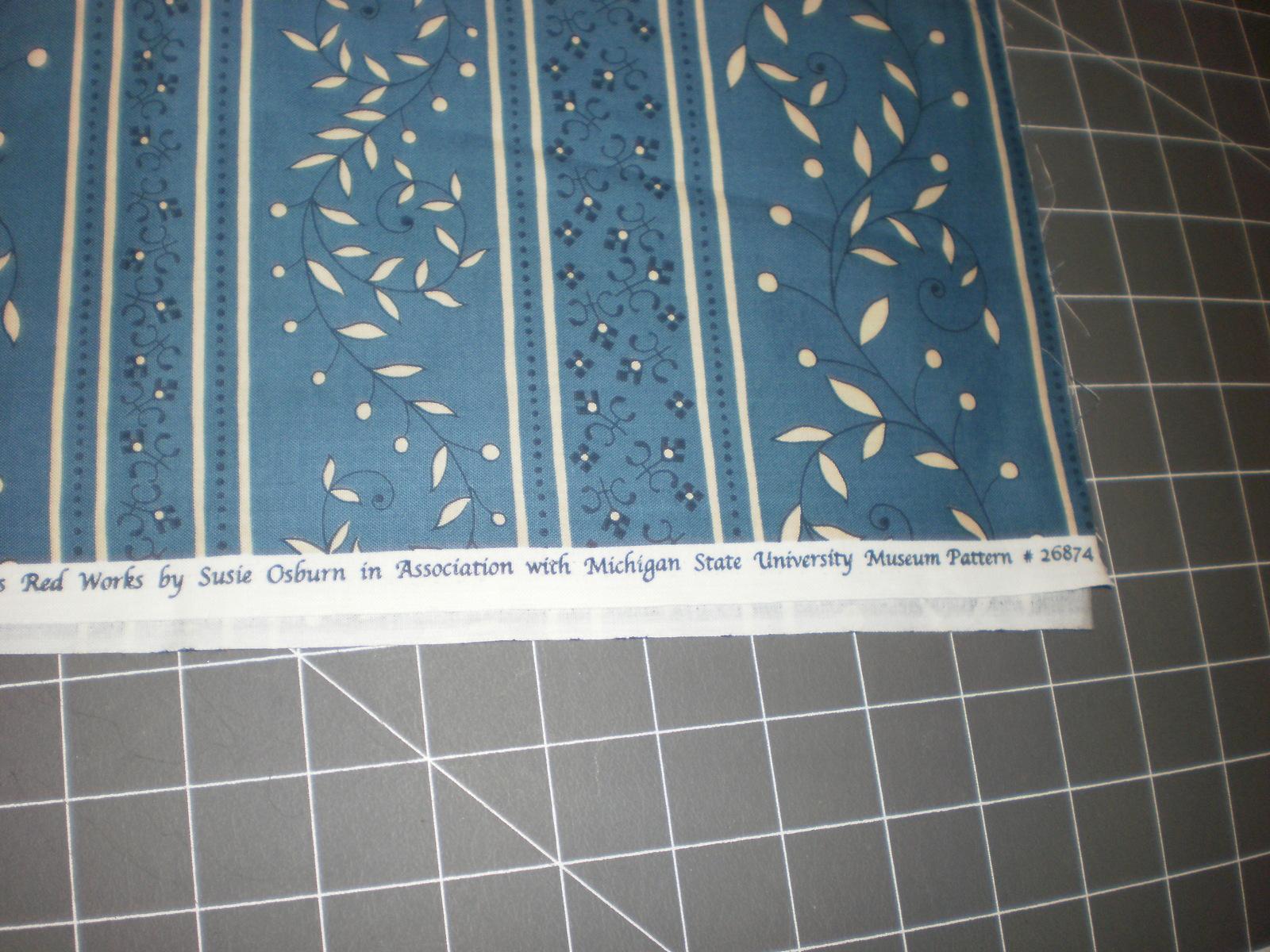 "Red Works Susie Osburn Michigan State University Museum Fabric 32"" Long OOP"