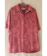 Men's Bahama Bay Club Button Front Shirt 55/45 Silk/Rayon Large - $21.38