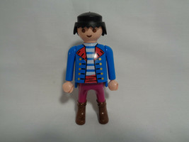 2000 Playmobil Replacement Pirate Figure Blue Jacket w/ Red Lapels - $1.96