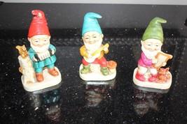 3 Vintage Christmas  Diminutive Figurines Statue Elves Gnomes Pixies Dwarfs - €32,67 EUR