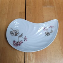 CH Field Haviland Limoges GDM Bone Plate White with Pink Flowers - $9.89