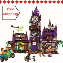 Scooby Doo Mystery Mansion Building Block ScoobyDoo Shaggy Velma Fit Leg... - $43.93