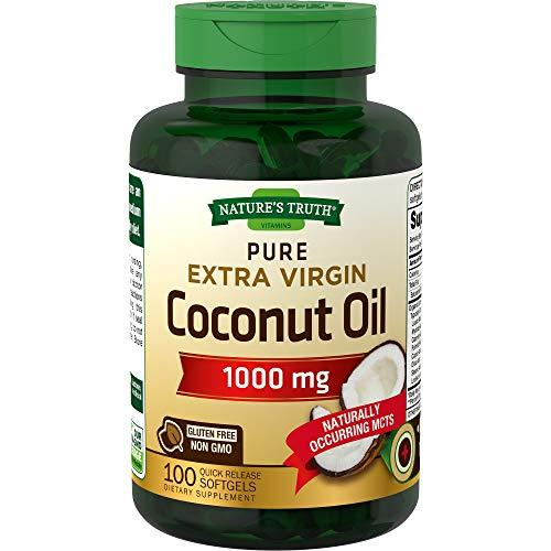 Nature's Truth Extra Virgin Coconut Oil 1000 mg, 100 Count - $14.25