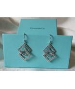 "Tiffany & Co. 18K White Gold Geometric Beaded Dangle Earrings~1.25""~2 Bo... - $595.00"