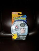 Tomy 2017 Pokemon Figure Pack Sun And Moon Pikipek Vs Clefairy New - $16.60