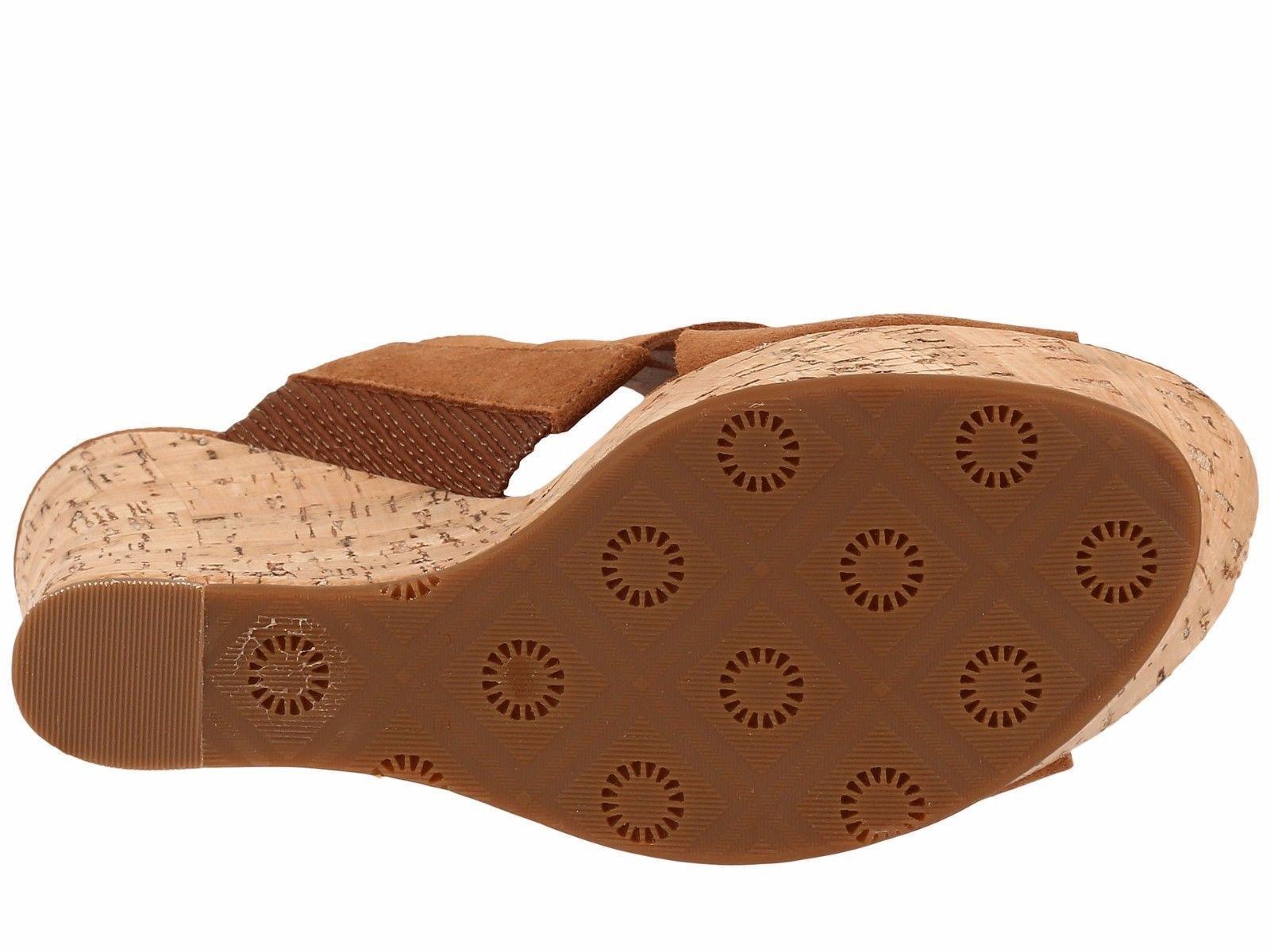 UGG Marta High Wedge Sandals Chestnut 12