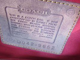 Coach Wristlet Tweed Purple Suede Wallet Buckle Handbag Clutch Monogram C image 12