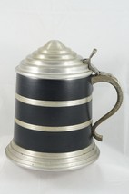 VTG Aluminum Tankard Beer Stein Pewter Handle Ice Bucket Made Hong Kong - $21.77