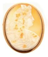 Antique 10k Gold Demeter Goddess of Harvest Portrait Cameo Brooch 11.35 ... - $595.00