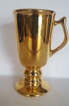 Vintage Hall Carbone Golden Glo Footed Pedestal Coffee Mug - $9.89