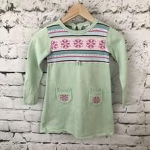 Gymboree Sweater Dress Sz 7 Long Sleeve Mint Green  - $9.89