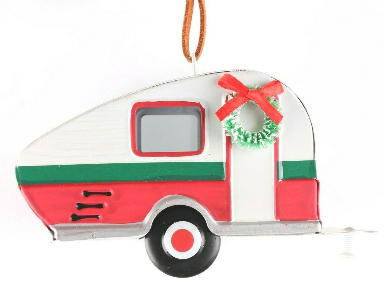 "Wondershop Target 5"" Tin Camping Trailer With Wreath Christmas Ornament NEW 2018"