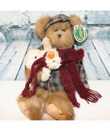 Bearington Collection Teddy Bear plush with red scarf - $19.79