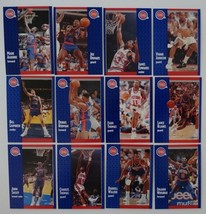 1991-92 Fleer Detroit Pistons Team Set Of 12 Basketball Cards Missing 3 Cards - $3.50