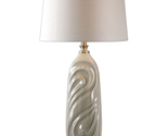 Table Lamps 1 Light With Sage Gray Glaze and Antiqued Brass Metal 33 inch 150 W