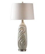 Table Lamps 1 Light With Sage Gray Glaze and Antiqued Brass Metal 33 inch 150 W - $191.40