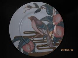1 Fitz & And Floyd Nightingale Bird Accent Salad Dessert Plate Peach Pin... - $22.76