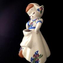 Vintage DeLee Dutch Girl Pottery Vase Planter California Katrina Hand Pa... - $25.00