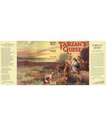 Edgar Rice Burroughs TARZAN'S QUEST facsimile jacket 1st Grosset & Dunla... - $34.30