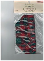 Longaberger Dresden Finishing Touches Basket Liner ~ Evergreen Plaid Fab... - $12.69