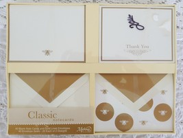 New Selaed Markings by CR Gibson Thank You Card Set 40 Cards Seals Class... - $9.99