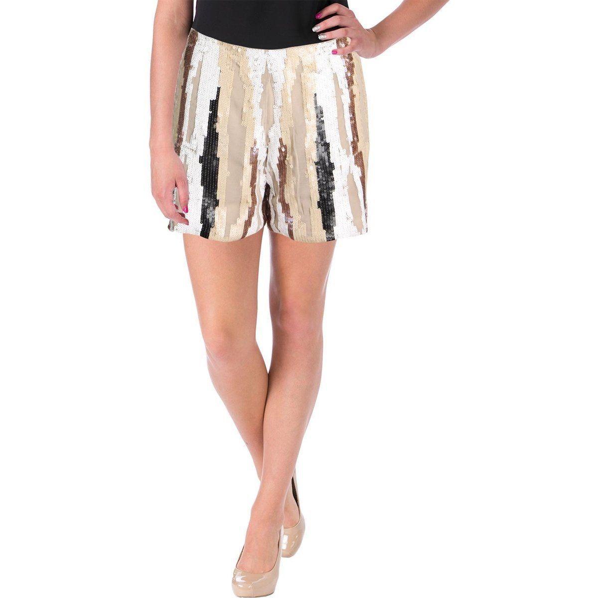 Guess Women's Lola Chiffon Sequined Dress Shorts Size 4