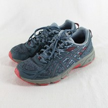 Asics Gel Venture 6 Athletic Shoes Womens Sz 9.5 Blue Gray Pink Running - $26.99
